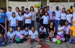 El Centro de Atención Múltiple de Frontera Comalapa realiza actividades de desarrollo motivacional coordinadas por estudiantes de la carrera de ingeniería en gestión empresarial modalidad mixta.