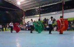 Grupo de danza y rondalla del ITFC realizan presentación en la Feria del Fraccionamiento Belisario Domínguez del Municipio de Frontera Comalapa.
