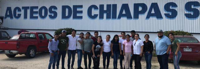Visita 5º semestre de Ingeniería en Gestión Empresarial la empresa Lácteos de Chiapas S. A. de C. V