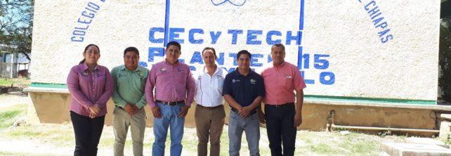 TecNM campus Frontera Comalapa da inicio las actividades de promoción de oferta educativa con estudiantes del CECYTECH no. 15 en Chicomuselo, Chiapas
