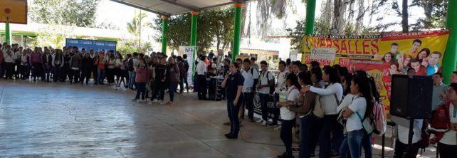 TecNM Campus Frontera Comalapa presenta oferta educativa en el CECyT 02 Ángel Albino Corzo.