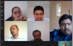Tutores del TecNM Campus Frontera Comalapa participan en reunión virtual.