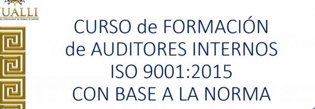"""PERSONAL DEL TECNM CAMPUS FRONTERA COMALAPA RECIBE CURSO DE """"FORMACIÓN DE AUDITORES INTERNOS ISO 9001:2015 CON BASE A LA NORMA ISO 19011:2018"""" IMPARTIDO POR LA CONSULTORIA ESPECIALIZADA EN SISTEMAS DE GESTION """"CUALLI""""."""