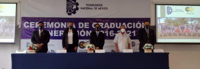 TecNM Campus Frontera Comalapa celebra Ceremonia de Graduación de la Generación 2016-2021